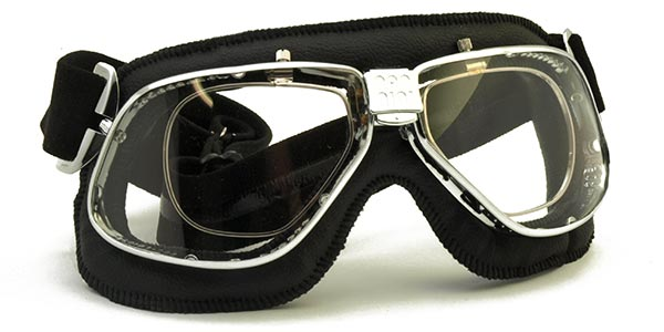 Nannini Cruiser 4V in chrome with black leather and clear lenses