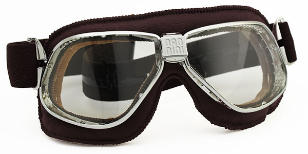 Nannini 4V Cruiser in chrome with brown leather and grey lenses