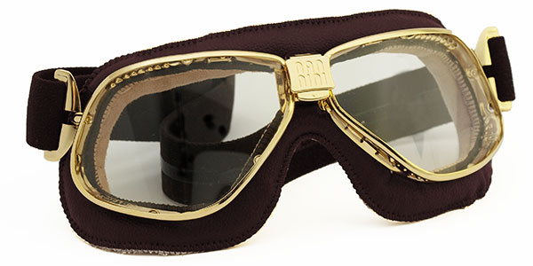 Nannini Cruiser 4V in gold with brown leather and grey lenses