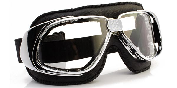 Nannini Rider 4V in chrome with black leather and clear lenses