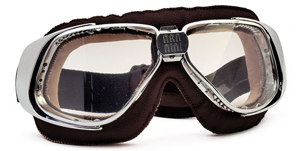 Nannini Rider 4V 1151 in chrome and brown with clear lenses
