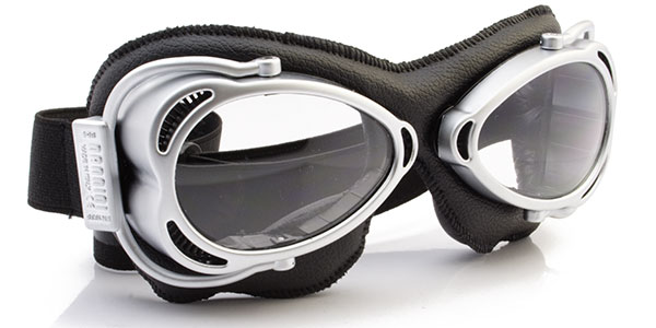 Nannini Streetfighter 4V 1158 Matt chrome and black leather with clear lenses