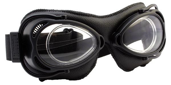 Nannini Streetfighter 4V 1154 Black with black leather and clear lenses