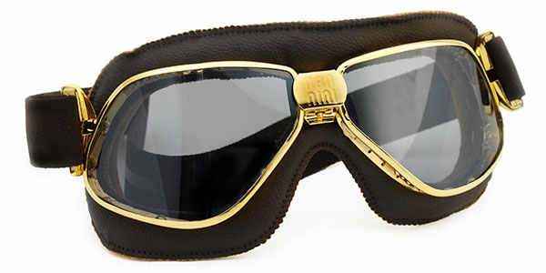 Nannini Biker 4V 1180 Gold with brown leather and grey lenses